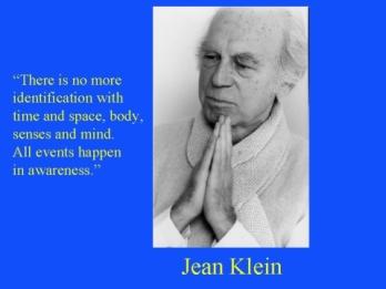 Klein Quote No body mind sense time space