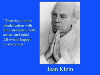 Klein Quote No body mind sense time space